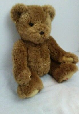 "HARRODS Knight Bridge 15"" Fuzzy Teddy Bear Stuffed / Light Brown"