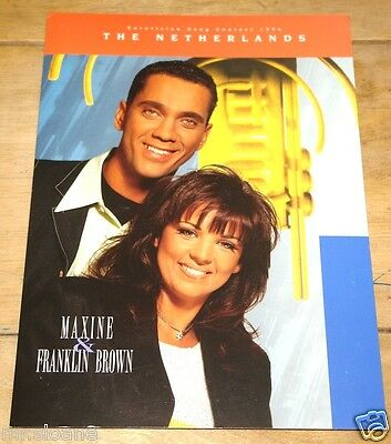 Maxine Franklin Brown Eurovision Song Contest Promotional Promo Press Pack 1996