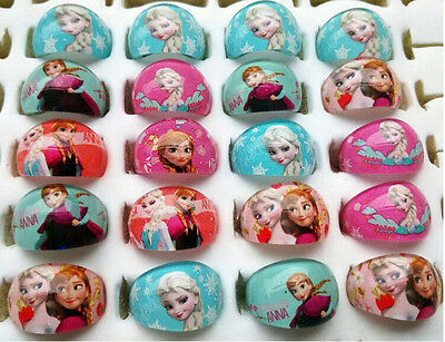 wholesale 15rings Frozen Elsa Anna Children's kids party birthday Favors resin