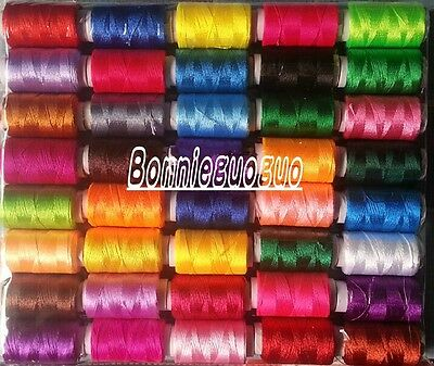 40 Spools(40 Color) Polyester Embroidery Machine Thread NEW