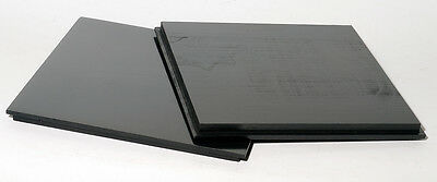 """1 Lens board 164 x 164mm for SENECA Improved 11x14""""- made of Solid Maple, Black"""