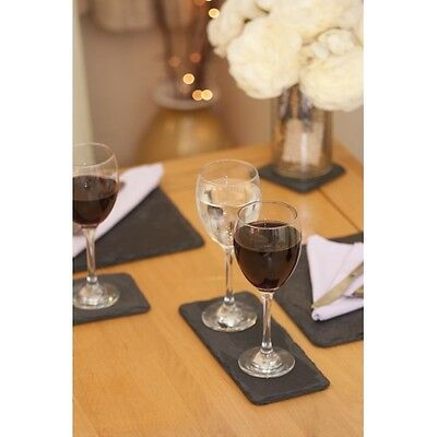 Kitchen Beautiful Set of 4 Large Double Slate Coaster Trivet Placemats Coffee