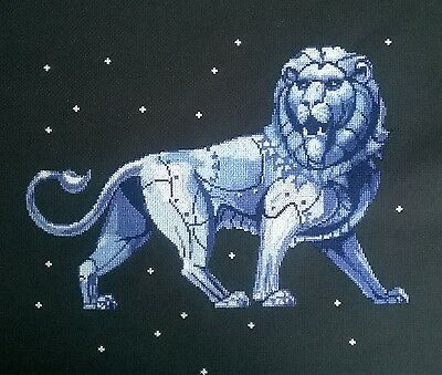 LEO (Zodiac)  - Finished completed Cross Stitch