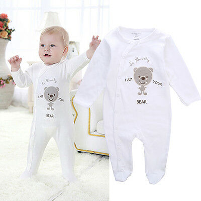 Casual Newborn Baby Boy Girls Foot's Romper Jumpsuit Playsuit Baby grows Outfits
