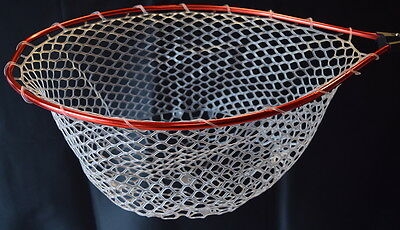 CLEARANCE Large Round Red Soft Clear Ghost Rubber Lake Boat Landing Net