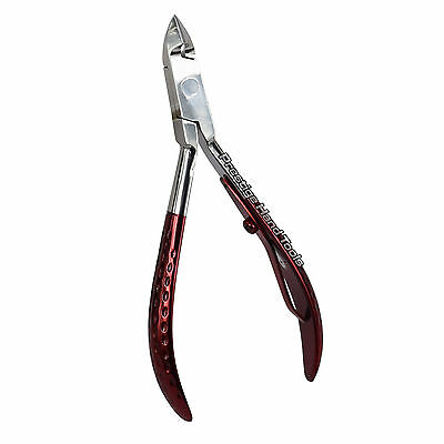 Prestige Professionnel Cuticule Art Ongles Pinces Coupe-Ongles Manucure Rouge