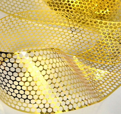 Sequin Waste (Punchinella) - 1 METRE of GOLD  CIRCLES design - 83mm width
