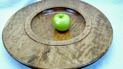 Handmade quilted cherry wood dish