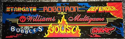 "Multi Williams Multicade Arcade Marquee 24.5"" x 7.75"""