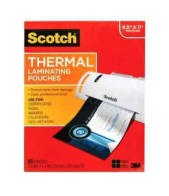 """Scotch 8 1/2"""" x 11"""" Thermal Laminating Pouch 50 Count Thickness 3mm Office Photo"""