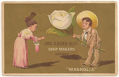 James Kirk & Co. Soap Makers Chicago IL Victorian Advertising Trade Card