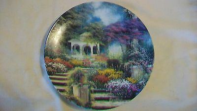 A Peaceful Retreat Enchanted Gardens Collectors Plate by Egidio Antonaccio