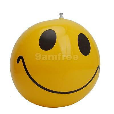 "Inflatable Blow Up Smiley Beach Ball 16"" Holiday Party Swimming Garden Toy"