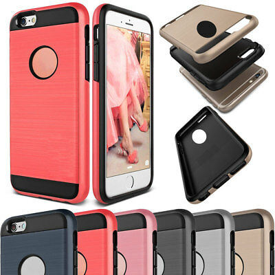Hybrid Rubber Shockproof Brushed Slim Case Cover For iPhone 4s 5s SE 6s 7 8 Plus
