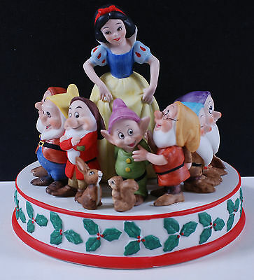 1987 Snow White Figurine inspired by Walt Disney's Christmas Greeting from 1937