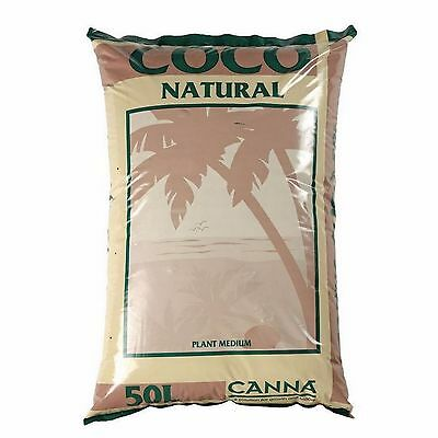 Canna Coco Natural 50L Bag Coir Coco Peat Growing Medium Hydroponics Soil