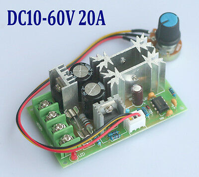20A DC10-60V PWM HHO RC Universal Motor Speed Regulator Controller Switch