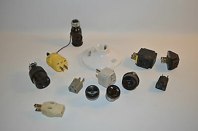 Vintage Lot of 12 Different  Electrical Plugs