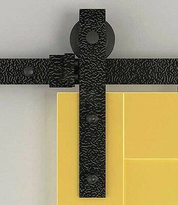 6FT/8FT Rustic black sliding barn wood closet door sliding barn track hardware