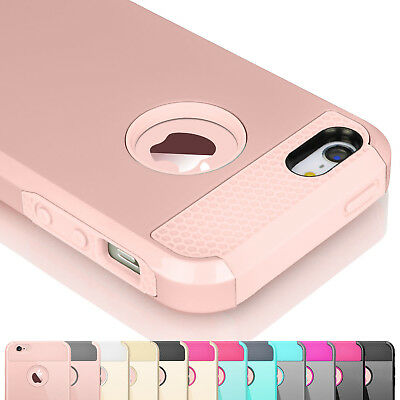 Hybrid Rugged Rubber Hard Shockproof Case Cover Skin for iPhone 5C