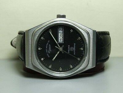VINTAGE WEST END MILITARY AUTOMATIC DAY DATE SWISS MENS Antique WATCH H603 BLACK