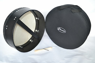 CLEARWATER BODHRAN 18 inch TUNEABLE 6 inch DEEP RIM WITH GIG BAG IN BLACK