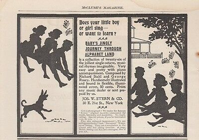 1899 Joseph W Stern & Co New York NY Ad: Baby's Jingly Journey Through Alphabet
