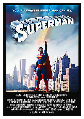 Superman (1978) V3 - A1/A2 POSTER **BUY ANY 2 AND GET 1 FREE OFFER**