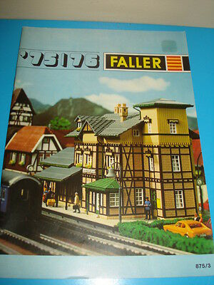 Faller Catalogue - 1975/1976 in French, English and Dutch