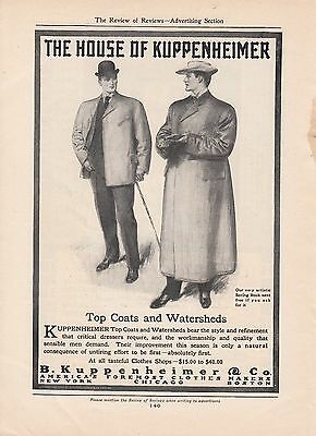 1905 B Kuppenheimer America's Foremost Clothes Maker Ad: Top Coats & Watersheds