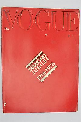 Vogue Magazine October 15th 1976 Vintage UK Diamond Jubilee Issue Fashion