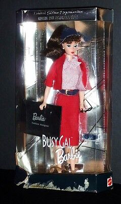 1960 Fashion Doll Reproduction Busy Gal Barbie New in Box Ages 5-100+