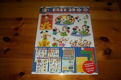 1 Package Disney Easy 3D For Making 12 Cards/ No Scissors Need New