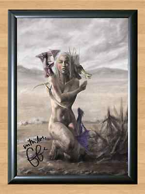 Emilia Clarke Game of Thrones Daenerys Signed Autographed A4 Print Poster Photo
