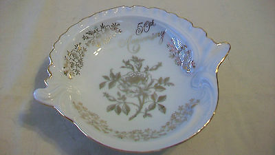 50Th Anniversary Porcelain Bowl, Scalloped Edges From Norcrest Ab-143