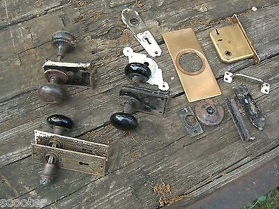 Lot of Antique Vintage Door Knobs, Locks, Plates and misc. One Corbin included