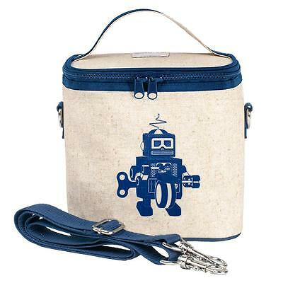 NEW So Young Insulated Lunch Bag Box Small Cooler Bag - Blue Robot