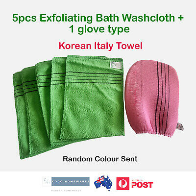 Korean Italy Towel Exfoliating Bath Washcloth Viscose Scrub Bath Mitten Towel