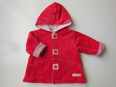 Pumpkin Patch Baby Girl Soft Velour Jacket Warm Padded Size 000 Fits 0-3M