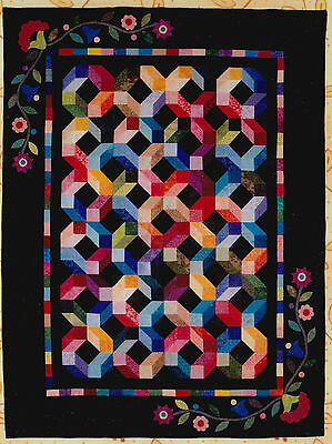 Rainbow Garden - pieced and applique quilt PATTERN - The Rabbit Factory