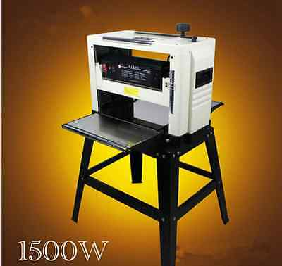 "Professional 12-1/2"" Woodworking Thickness Planer 1500W 220V Tables& Knives m"