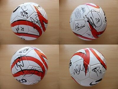 2015-16 Leicester City Squad Signed Football - Mahrez Ranieri Kante +++ (8073)