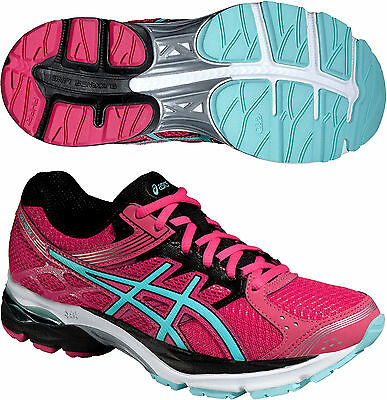 Asics Gel Pulse 7 Ladies Neutral Cushioned Running Sports Shoes Trainers - Pink