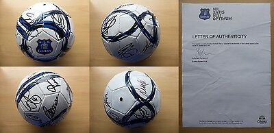2013-14 Everton Squad Signed Football - Official COA from Everton FC (8075)