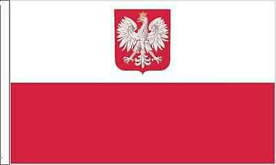 Poland Crest Sleeved Flag suitable for Boats 45cm x 30cm