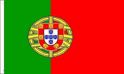 Portugal Sleeved Flag suitable for Boats 45cm x 30cm