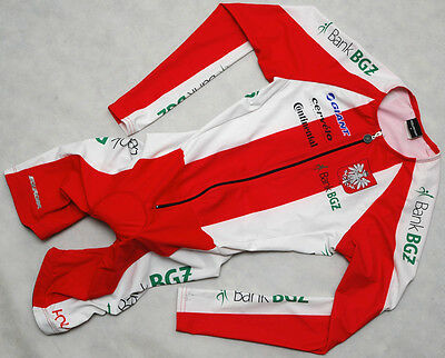 BANK BGZ POLAND - CASTELLI - genuine HIGH QUALITY long sleeve cx SKINSUIT size S