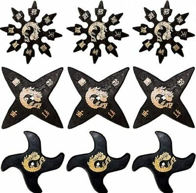 Silver Foam Rubber Throwing Stars set of 9