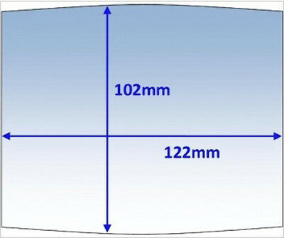 Clear 122 x 102mm Outer Lens to suit Wia Blue (235621) Welding Helmets - 10 Pack