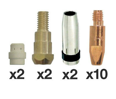 SB24 / MB24 MIG Torch 16 Piece Consumables Pack